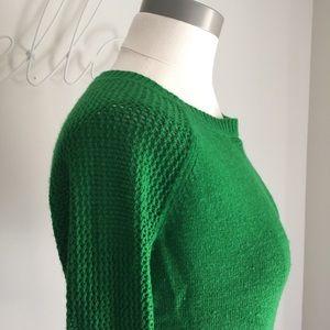 Gap Small Wool Blend Sweater Open Knit Sleeves S